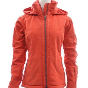 ATHLETA ORANGE MARIBEL SKI JACKET SIZE SMALL